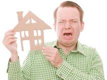 Płaczu houseowner fotografia stock