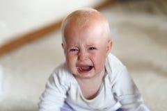 Płakać 6 miesięcy Starej dziewczynki Zdjęcia Royalty Free