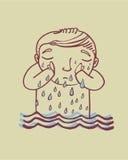 Płakać rzekę ilustracja wektor