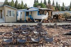 Płakać w Viewfinder: Jeden miesiąc Po 2017 Sonoma Coun zdjęcie royalty free