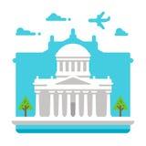Płascy projekta Cztery sądy Dublin royalty ilustracja