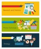 Płascy UI projekta pojęcia dla unikalnego infographics Obrazy Royalty Free