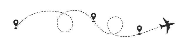 Płaska ścieżka z lokacją przyczepia wektorową ilustrację ilustracja wektor