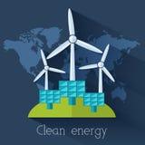 Płaska eco natury jasnego energia świat Zdjęcia Royalty Free