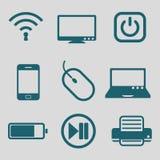 Płaska ikona dla technologii narzędzia Fotografia Royalty Free