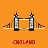 Płaska ikona wierza most w Londyn Obraz Royalty Free