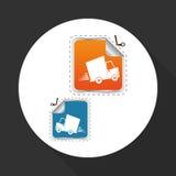 Płaska ilustracja bezpłatny doręczeniowy projekt, editable wektor Fotografia Stock