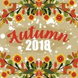 Płaska ilustracja jesień zdjęcie royalty free
