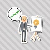 Płaska ilustracja o biznesmena projekcie, wektorowa kreskówka Zdjęcie Stock