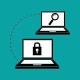 Płaska ilustracja o systemu bezpieczeństwa Zdjęcie Royalty Free