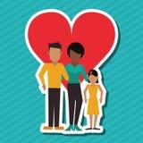Płaska ilustracja rodzinny projekt, ludzie ikon Fotografia Stock