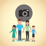 Płaska ilustracja rodzinny projekt, ludzie ikon Zdjęcie Royalty Free