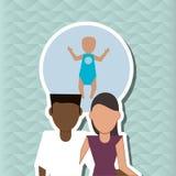 Płaska ilustracja rodzinny projekt, ludzie ikon Fotografia Royalty Free
