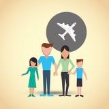 Płaska ilustracja rodzinny projekt, ludzie ikon Zdjęcia Stock