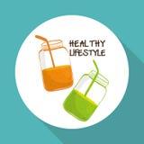 Płaska ilustracja zdrowy stylu życia projekt Zdjęcia Stock