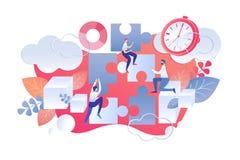 Płaska Ilustracyjna czasu zarządzania dnia początku reguła ilustracji