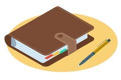 Płaska isometric ilustracja osobisty planista Biznesu dostęp Obrazy Royalty Free