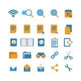Płaska mobilna sieci app interfejsu ikona: fi zoomu cięcia połączenie Obraz Stock
