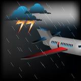 płaska pogoda sztormowa ilustracja wektor