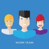 Płaska pracy drużyny ilustracja ilustracja wektor