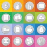 Płaska projekt ikona pieniężna Zdjęcia Stock