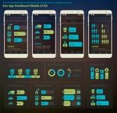 Płaska projekta Admin deski rozdzielczej Eco New Energy infographics UI wisząca ozdoba app ilustracja wektor