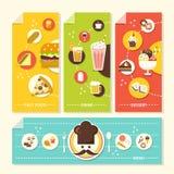 Płaska projekta pojęcia ilustracja dla jedzenia i napoju Zdjęcia Stock