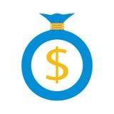 Płaska sieci ikona tła torby graficzny grunge wizerunku pieniądze wektor Zdjęcie Royalty Free