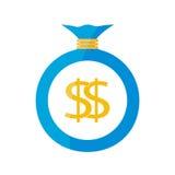 Płaska sieci ikona tła torby graficzny grunge wizerunku pieniądze wektor Obrazy Royalty Free