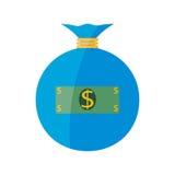 Płaska sieci ikona tła torby graficzny grunge wizerunku pieniądze wektor Obrazy Stock