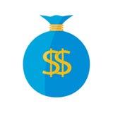 Płaska sieci ikona tła torby graficzny grunge wizerunku pieniądze wektor Zdjęcia Stock
