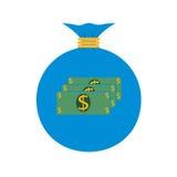 Płaska sieci ikona tła torby graficzny grunge wizerunku pieniądze wektor Fotografia Stock