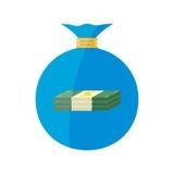 Płaska sieci ikona tła torby graficzny grunge wizerunku pieniądze wektor Zdjęcia Royalty Free