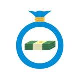 Płaska sieci ikona tła torby graficzny grunge wizerunku pieniądze wektor Obraz Stock