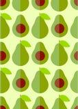 Płaski śliczny avocado i połówka z ziarnem Obraz Royalty Free