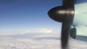 Płaski śmigło podczas lota zbiory wideo
