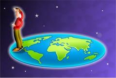 płaski świat royalty ilustracja