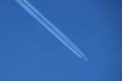 płaski błękit niebo Obraz Royalty Free