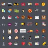 Płaski Biznesowy ikona set Zdjęcia Stock
