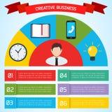 Płaski Biznesowy Infographic tło Fotografia Royalty Free