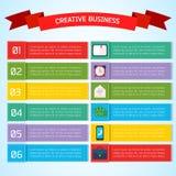 Płaski Biznesowy Infographic tło ilustracja wektor