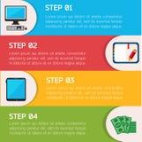 Płaski Biznesowy Infographic tło Obraz Royalty Free