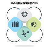 Płaski Biznesowy Infographic w białym tle Obraz Royalty Free
