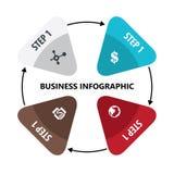 Płaski Biznesowy Infographic w białym tle Fotografia Stock
