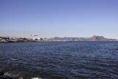 Płaski brać daleko od lotniskowego Santos Dumont Zdjęcie Royalty Free