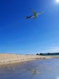 Płaski brać daleko przy Phuket plażą fotografia stock