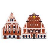 Płaski budynek Latvia kraj, podróży ikony punkt zwrotny riga architektura podróży zwiedzać Dom zaskórniki Fotografia Stock