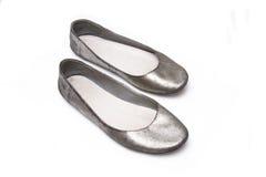 płaski dam butów ślizganie Obrazy Stock
