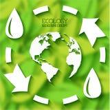 Płaski eco liścia sztandarów pojęcie również zwrócić corel ilustracji wektora Fotografia Royalty Free