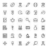 Płaski ikona set royalty ilustracja